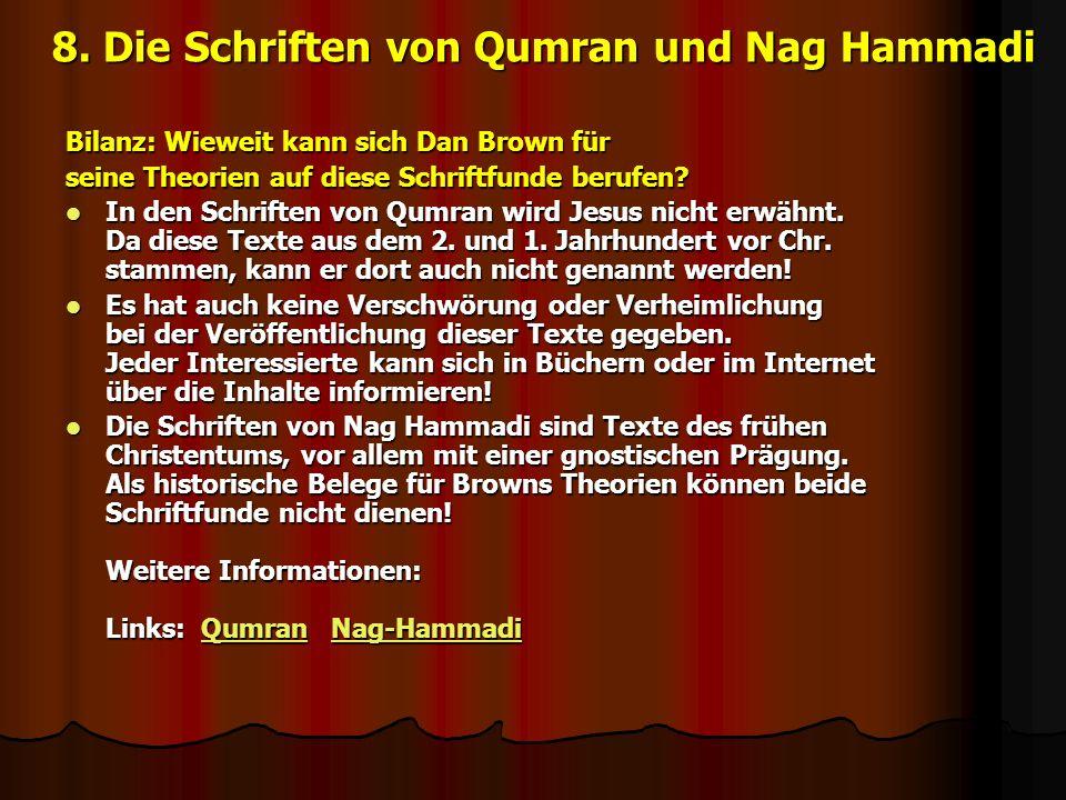 8. Die Schriften von Qumran und Nag Hammadi