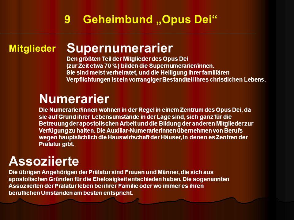 """9 Geheimbund """"Opus Dei"""