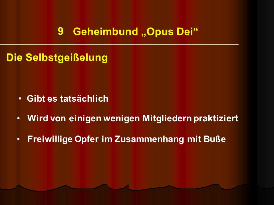"""9 Geheimbund """"Opus Dei Die Selbstgeißelung Gibt es tatsächlich"""