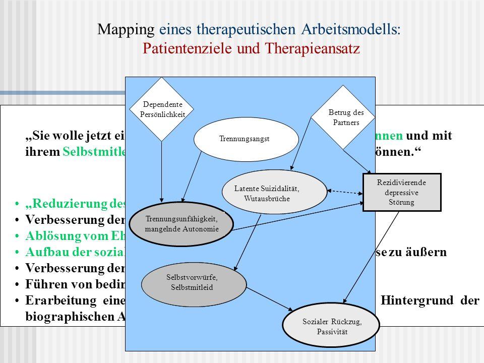 Mapping eines therapeutischen Arbeitsmodells: Patientenziele und Therapieansatz