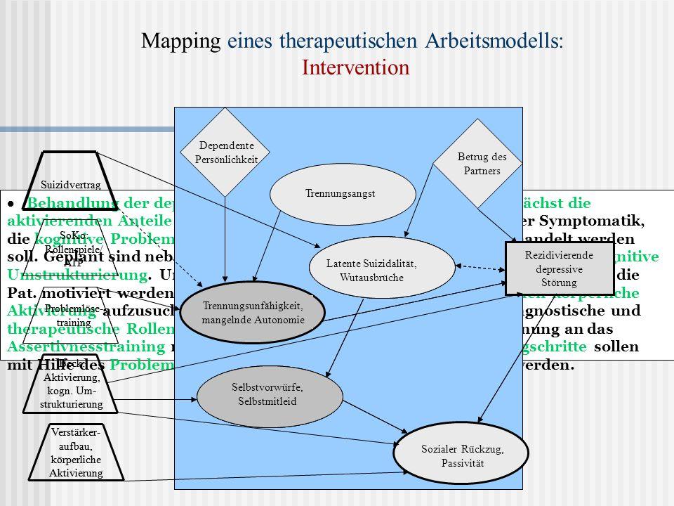 Mapping eines therapeutischen Arbeitsmodells: Intervention
