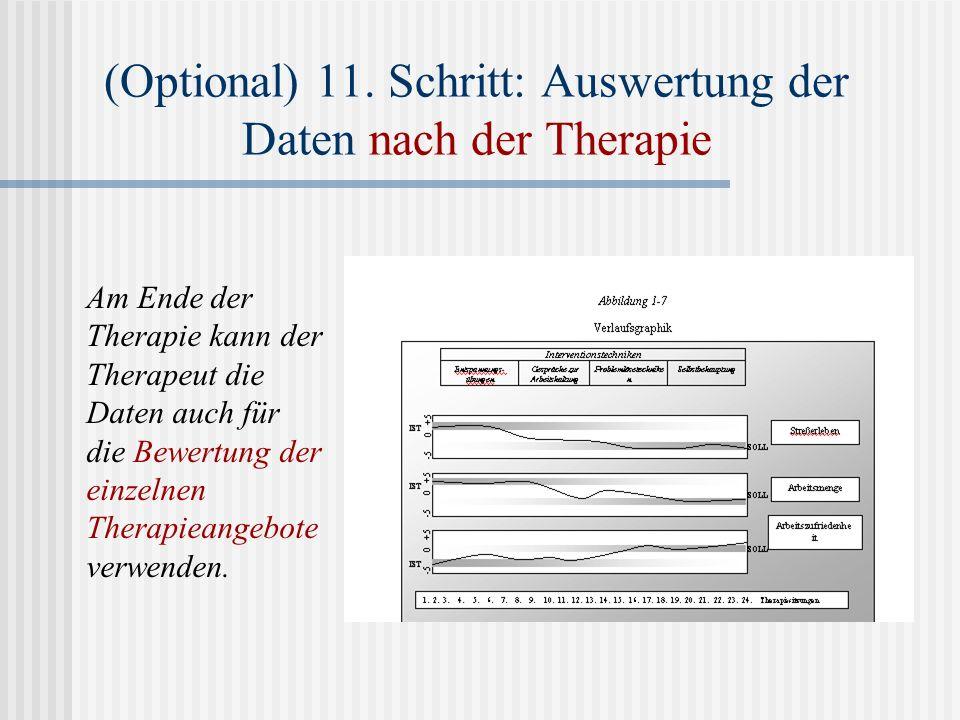 (Optional) 11. Schritt: Auswertung der Daten nach der Therapie