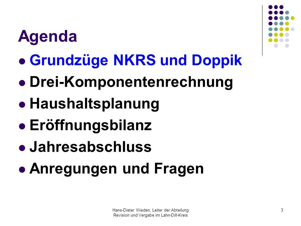 Agenda Grundzüge NKRS und Doppik Drei-Komponentenrechnung