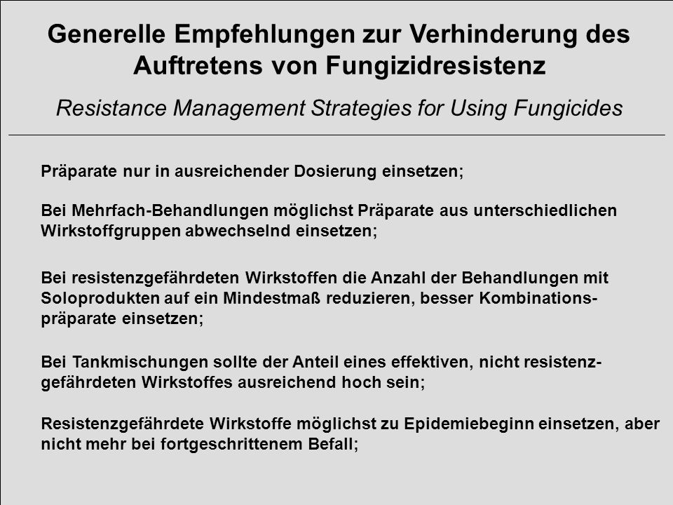 Resistance Management Strategies for Using Fungicides