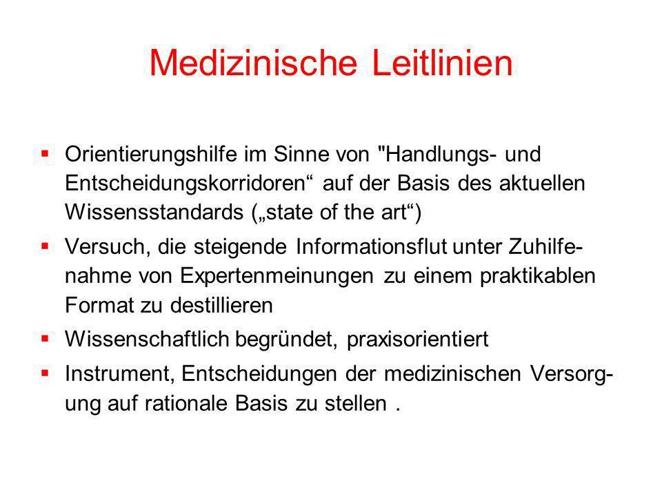 Medizinische Leitlinien
