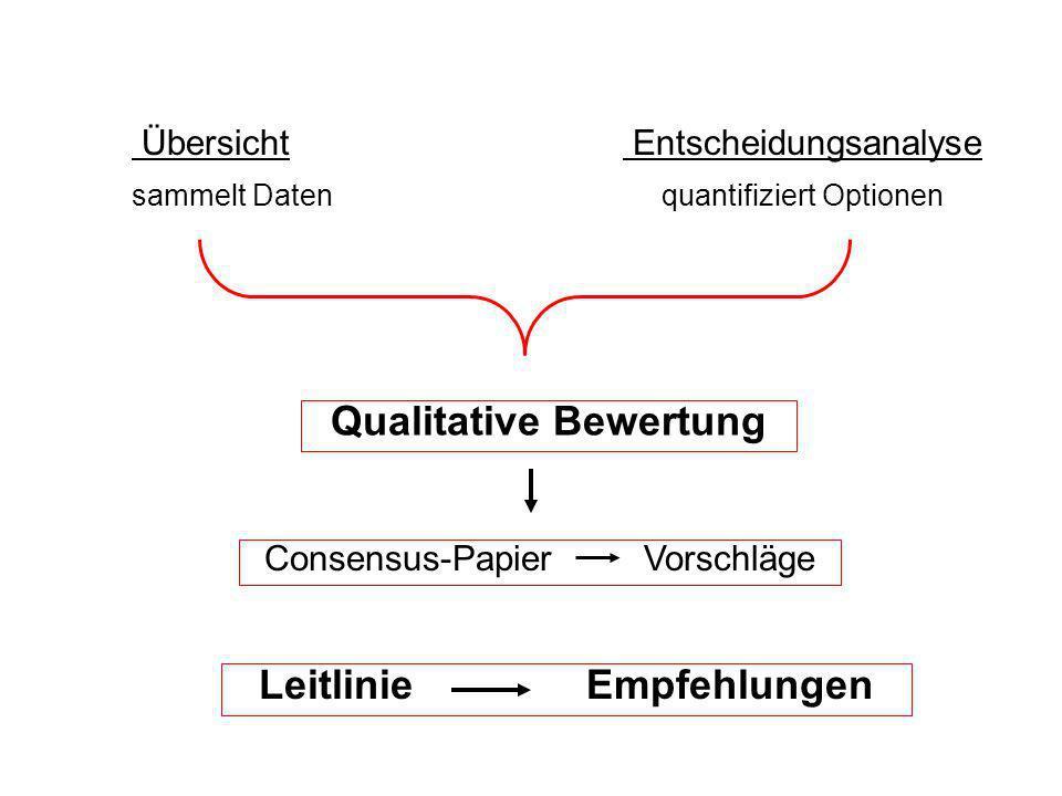 Qualitative Bewertung Leitlinie Empfehlungen