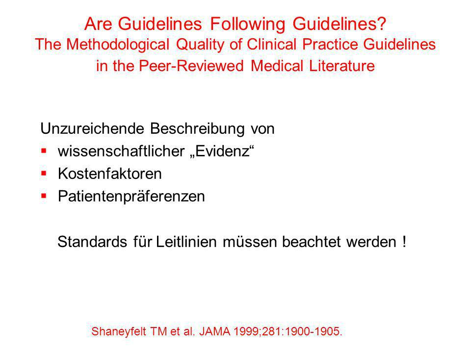 Are Guidelines Following Guidelines