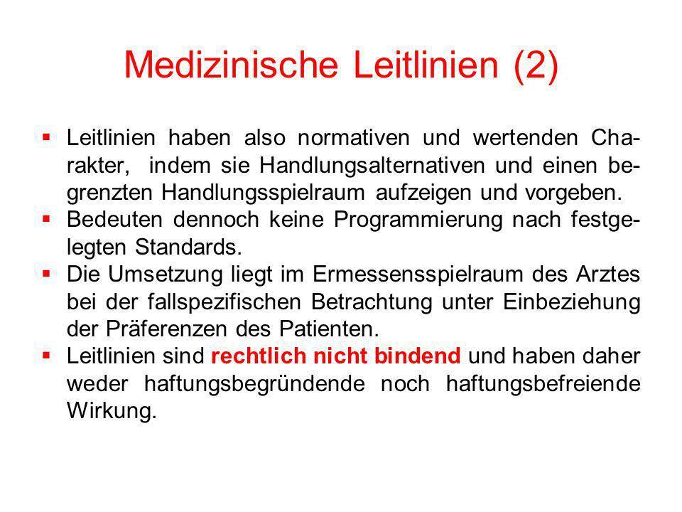 Medizinische Leitlinien (2)
