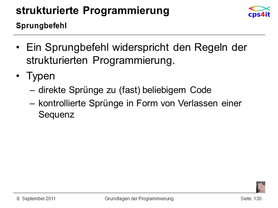 strukturierte Programmierung