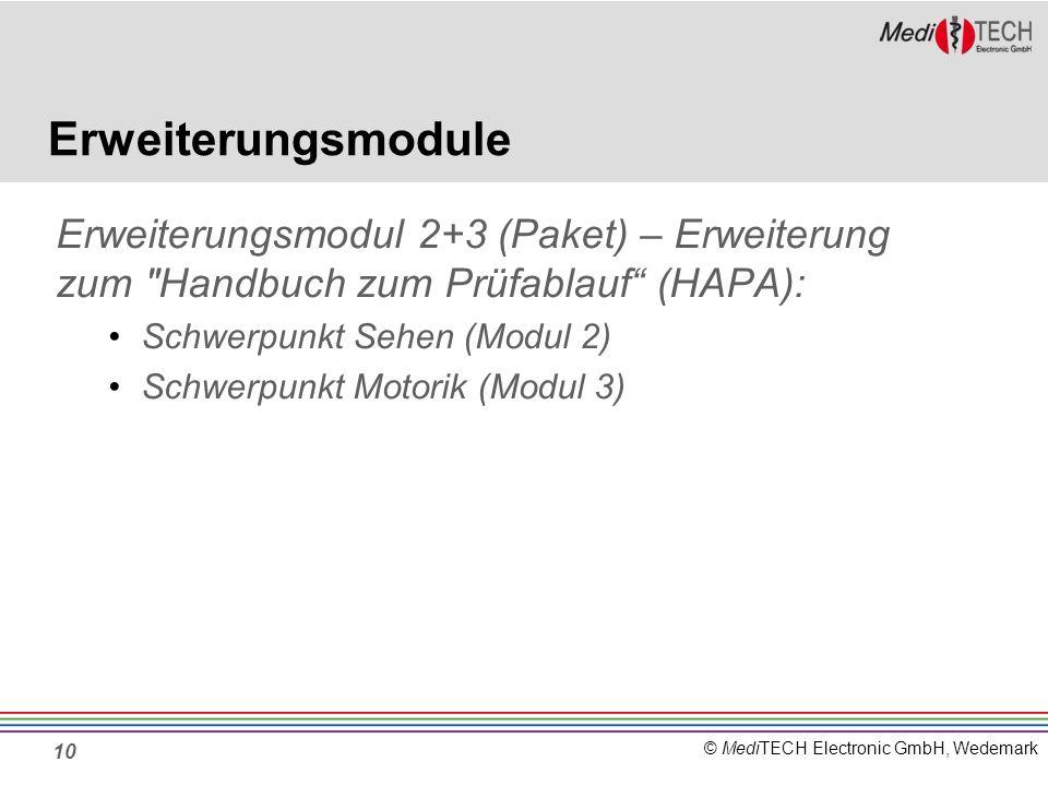 Erweiterungsmodule Erweiterungsmodul 2+3 (Paket) – Erweiterung zum Handbuch zum Prüfablauf (HAPA):