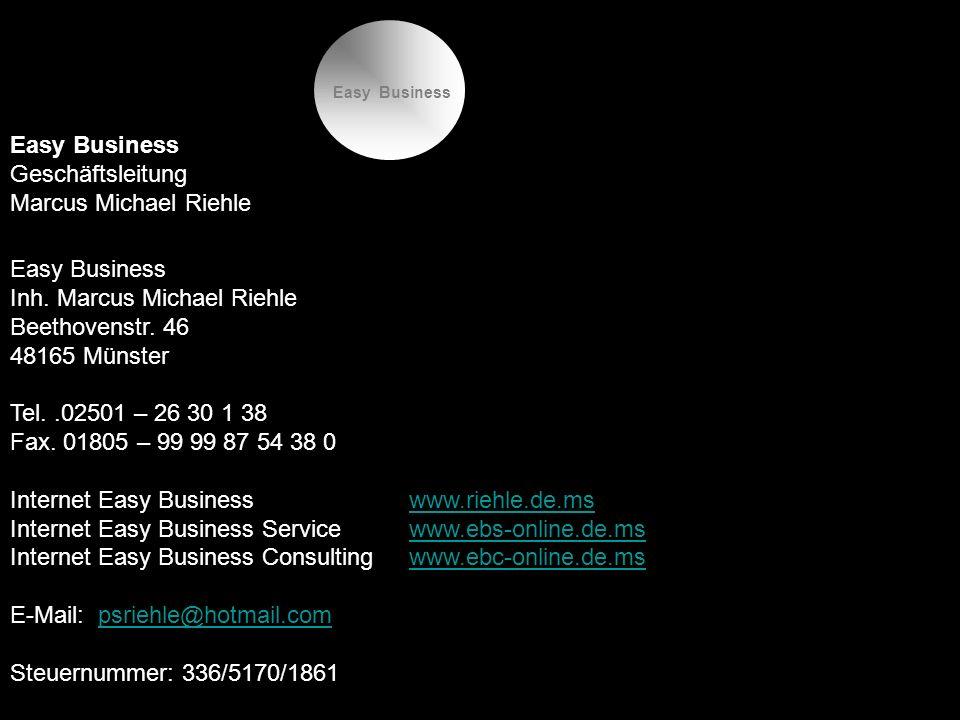 Easy Business Geschäftsleitung Marcus Michael Riehle