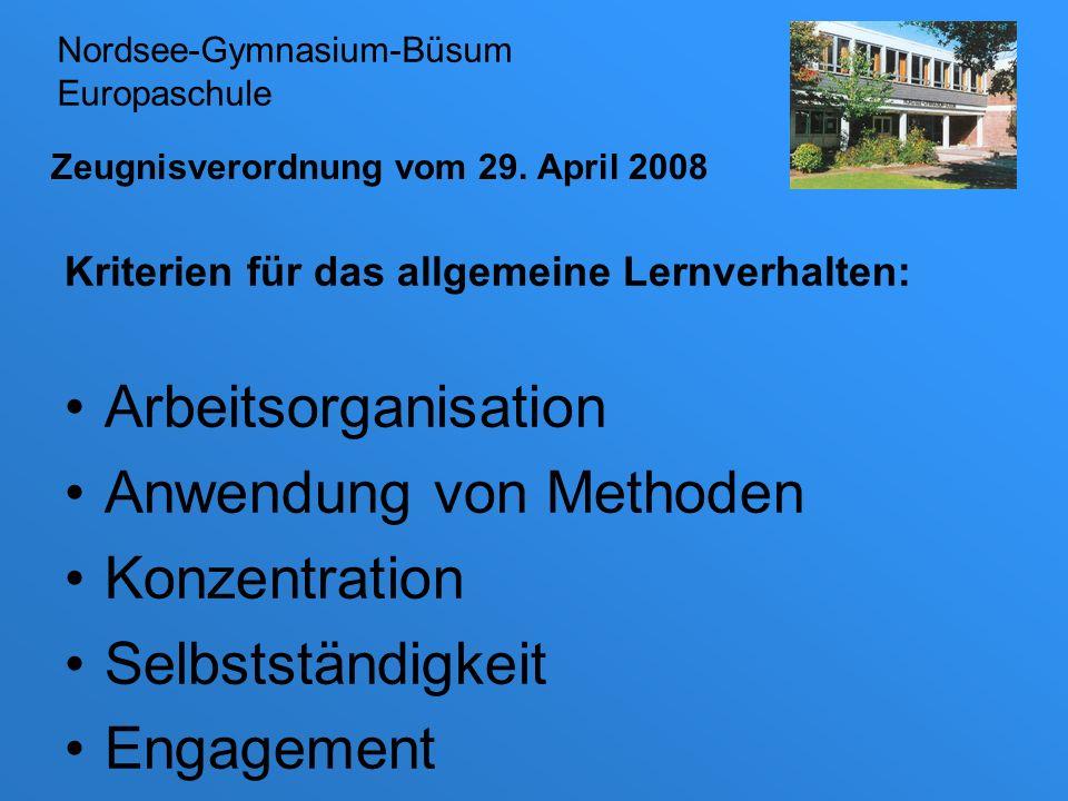 Zeugnisverordnung vom 29. April 2008