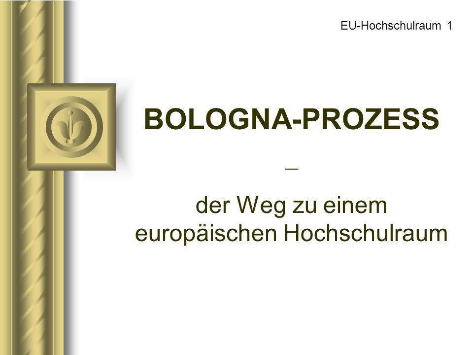 BOLOGNA-PROZESS __ der Weg zu einem europäischen Hochschulraum