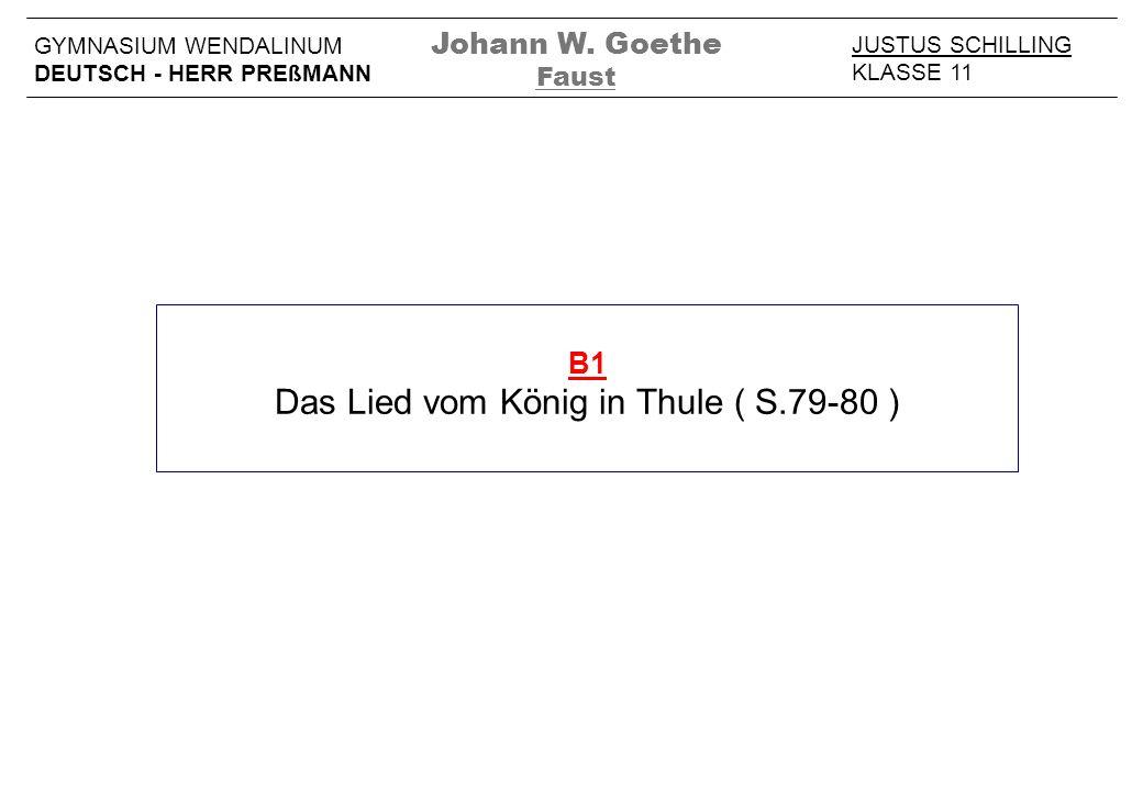 Das Lied vom König in Thule ( S.79-80 )