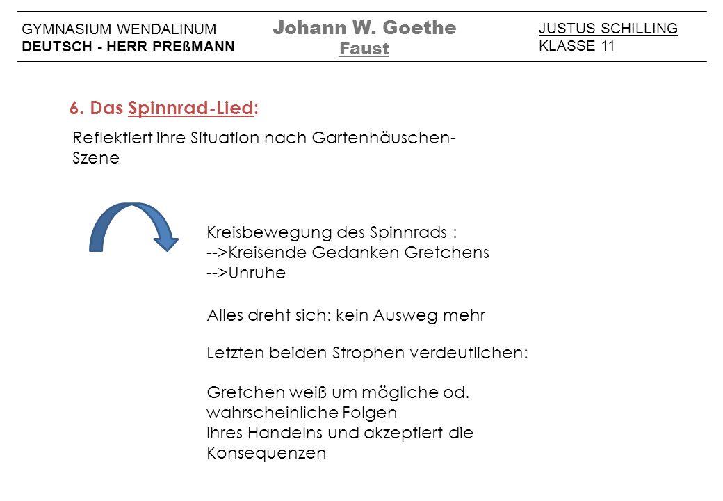 Johann W. Goethe 6. Das Spinnrad-Lied: Faust