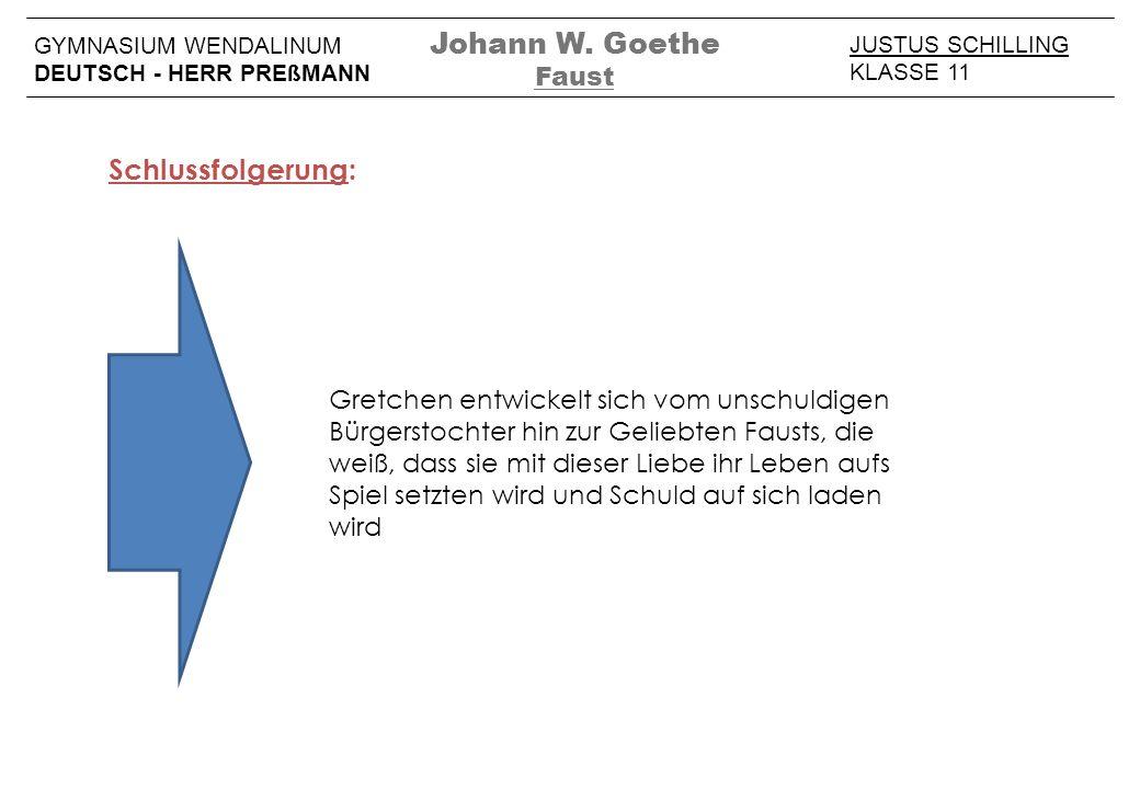 Johann W. Goethe Schlussfolgerung: Faust