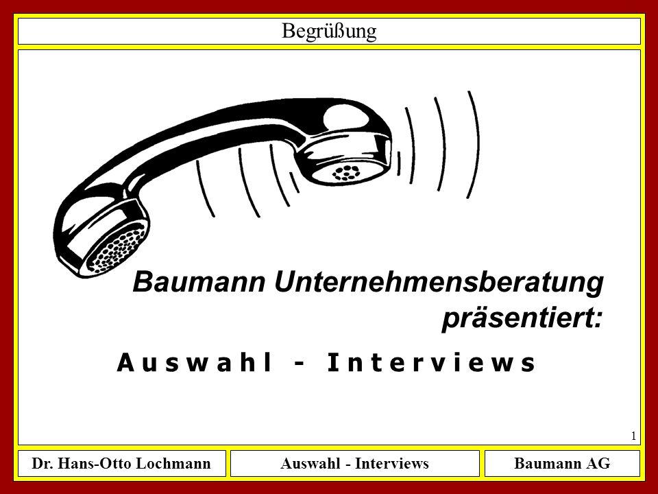 Baumann Unternehmensberatung präsentiert: