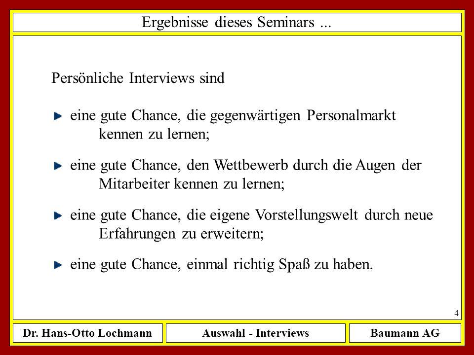 Ergebnisse dieses Seminars ...