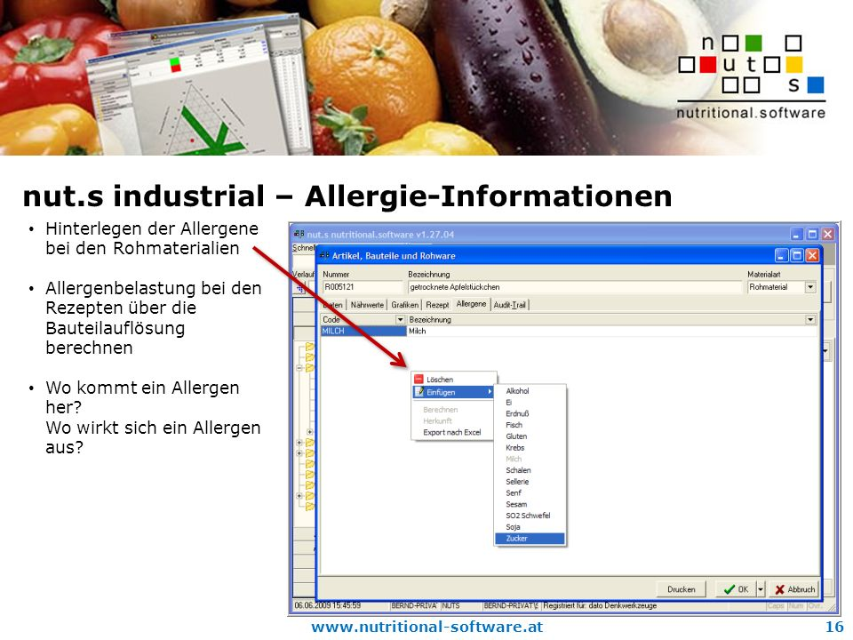 nut.s industrial – Allergie-Informationen