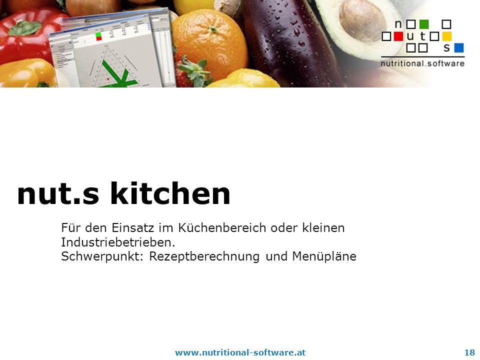 nut.s kitchen Für den Einsatz im Küchenbereich oder kleinen Industriebetrieben.