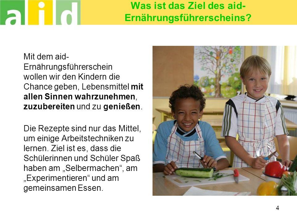 Was ist das Ziel des aid-Ernährungsführerscheins