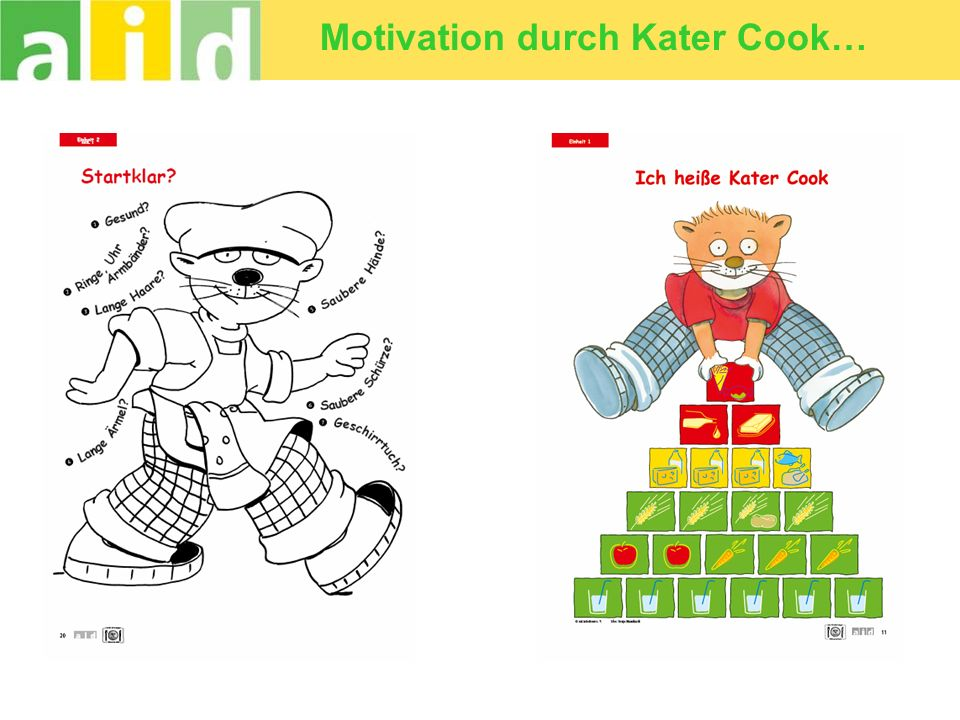 Motivation durch Kater Cook…