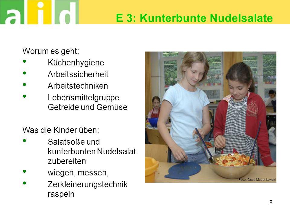 E 3: Kunterbunte Nudelsalate