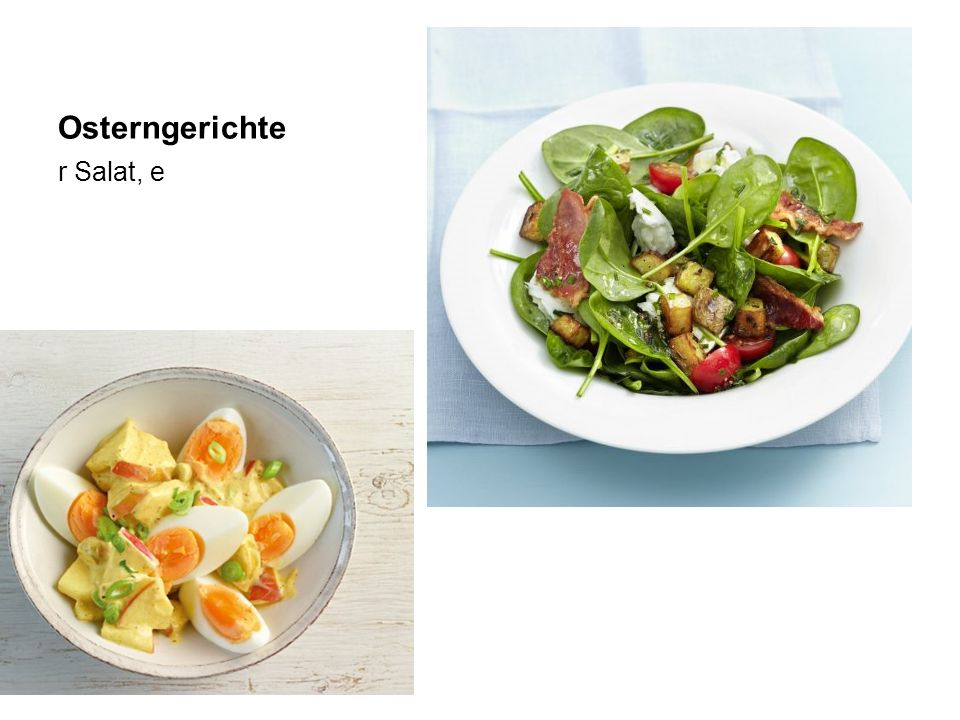 Osterngerichte r Salat, e