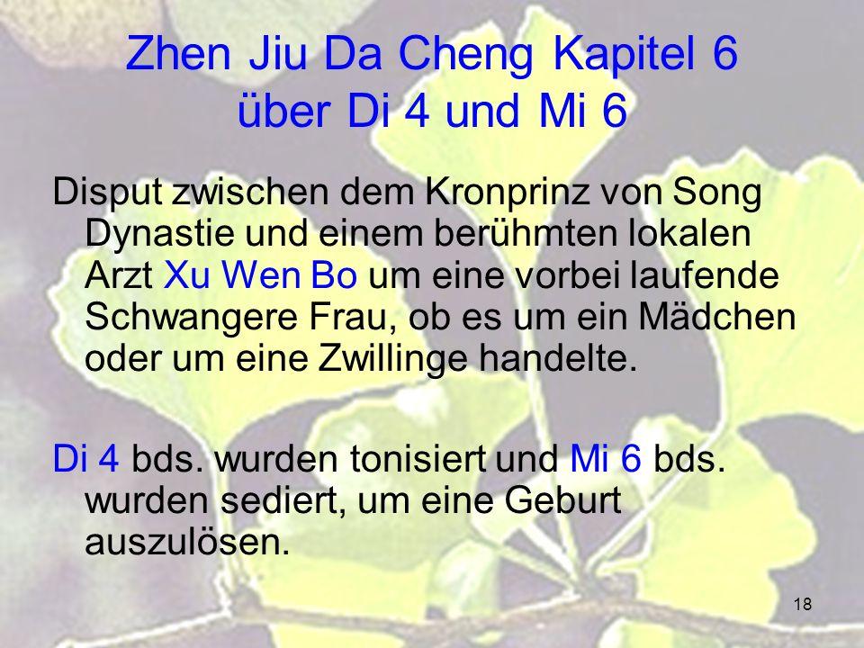 Zhen Jiu Da Cheng Kapitel 6 über Di 4 und Mi 6