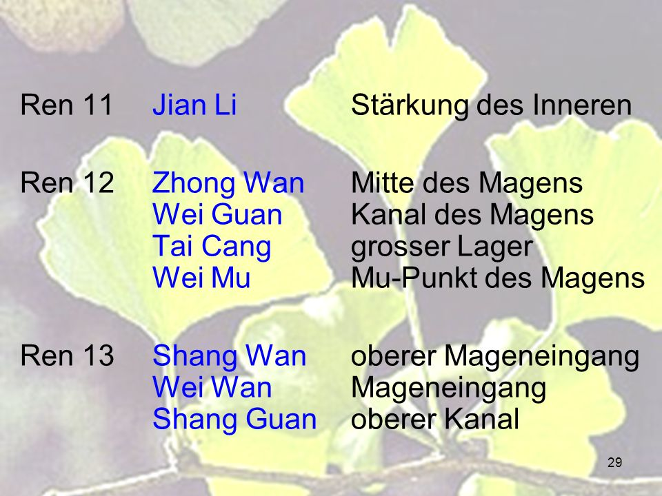 Ren 11 Jian Li Stärkung des Inneren