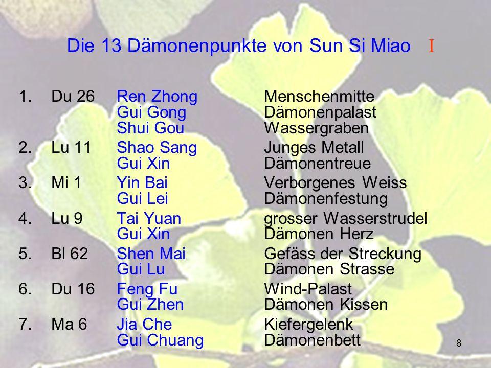 Die 13 Dämonenpunkte von Sun Si Miao I