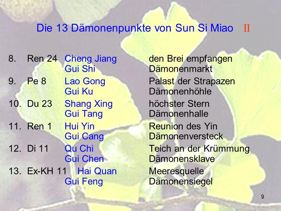 Die 13 Dämonenpunkte von Sun Si Miao II