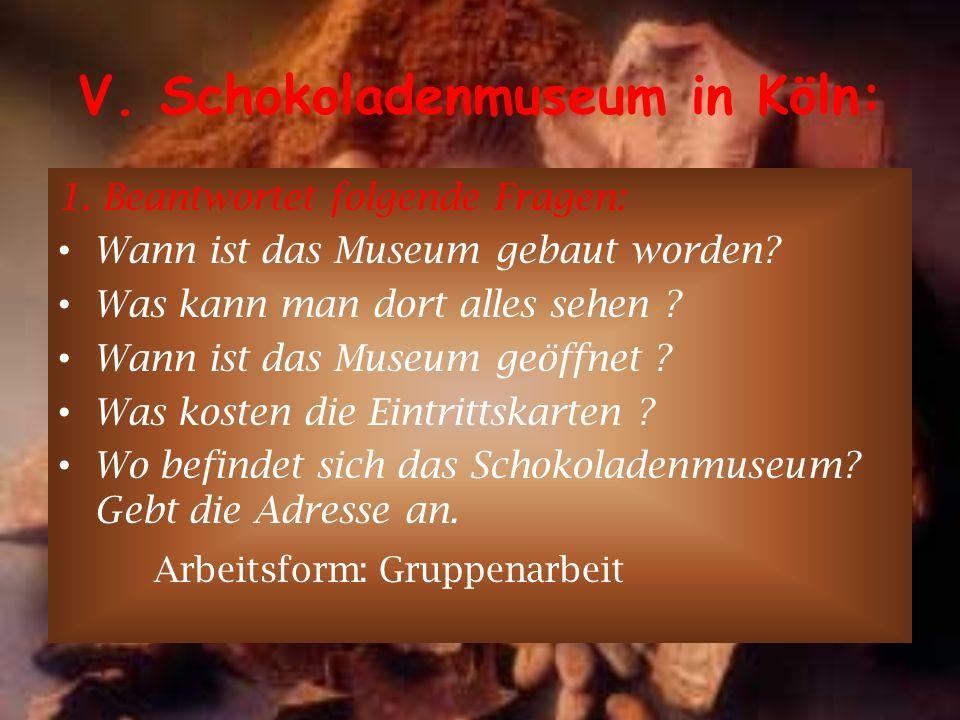 V. Schokoladenmuseum in Köln: