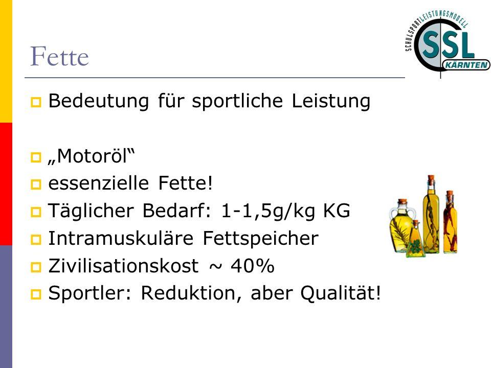 """Fette Bedeutung für sportliche Leistung """"Motoröl essenzielle Fette!"""