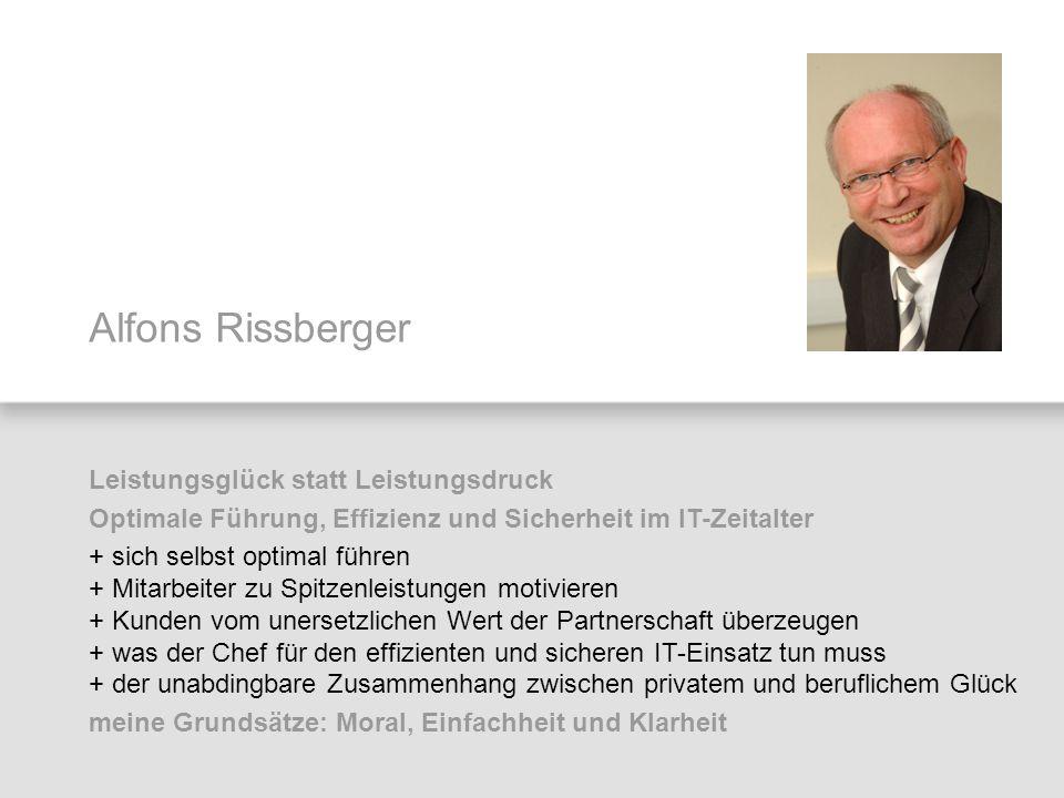 Alfons Rissberger Leistungsglück statt Leistungsdruck