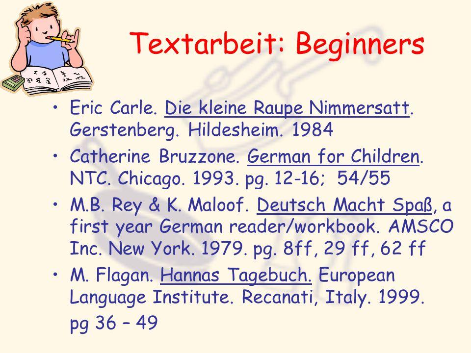 Textarbeit: Beginners