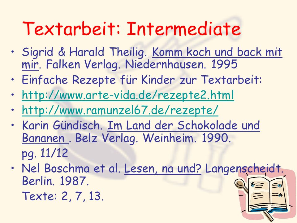 Textarbeit: Intermediate