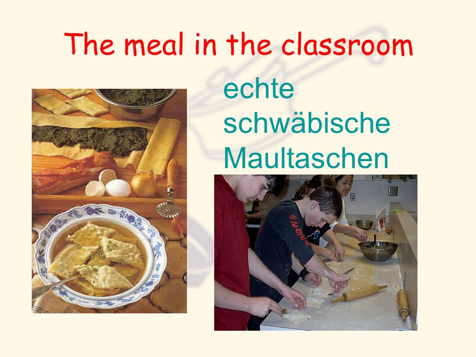 The meal in the classroom