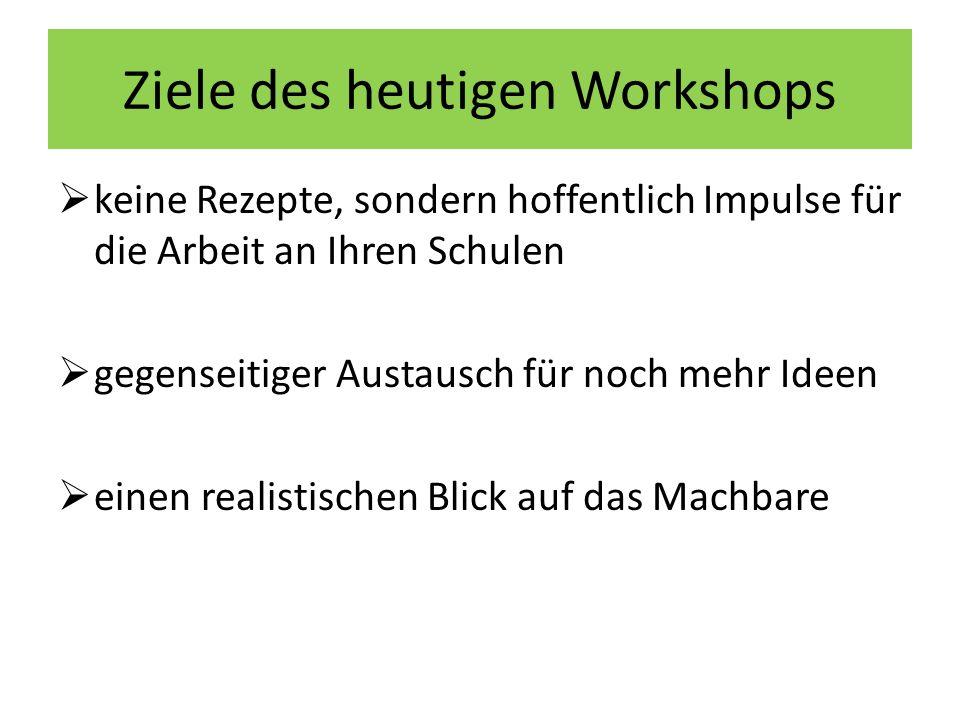 Ziele des heutigen Workshops