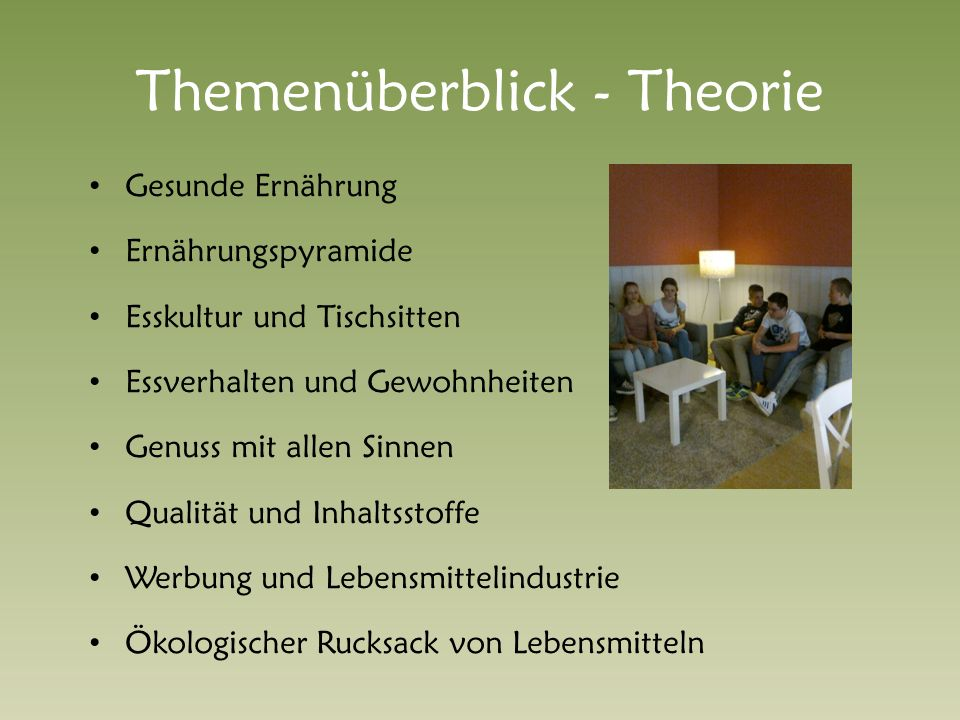 Themenüberblick - Theorie