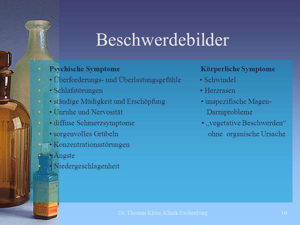 Dr. Thomas Klein, Klinik Eschenburg