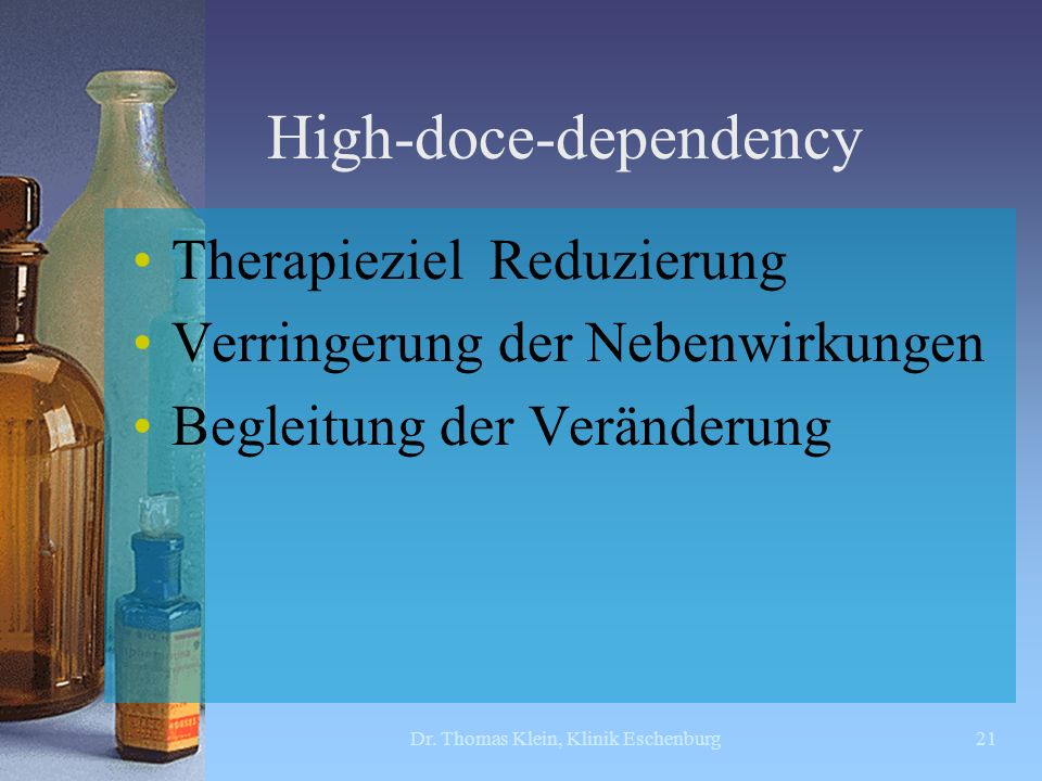 High-doce-dependency