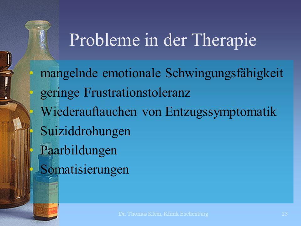 Probleme in der Therapie