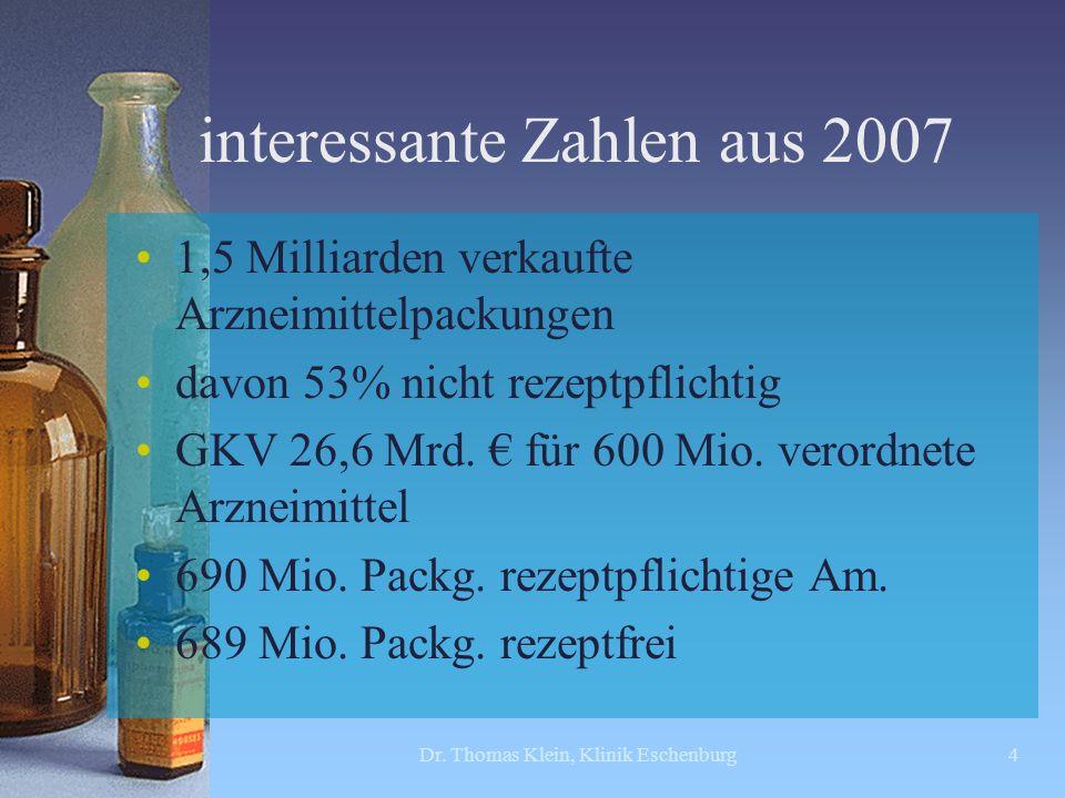 interessante Zahlen aus 2007