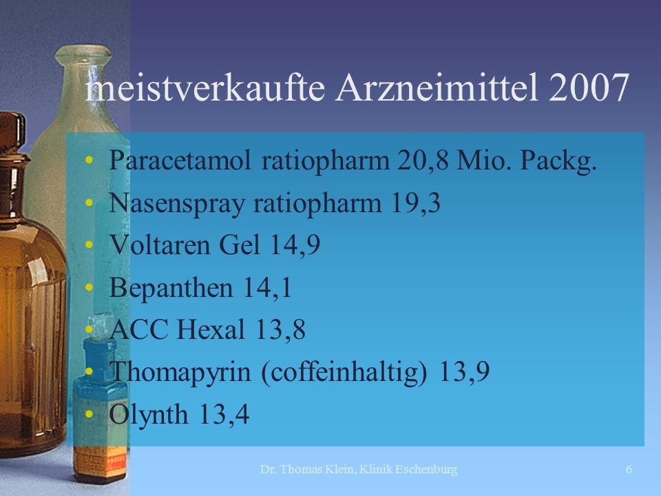 meistverkaufte Arzneimittel 2007