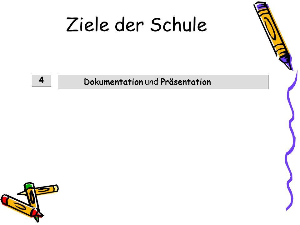 Ziele der Schule 4 Dokumentation und Präsentation