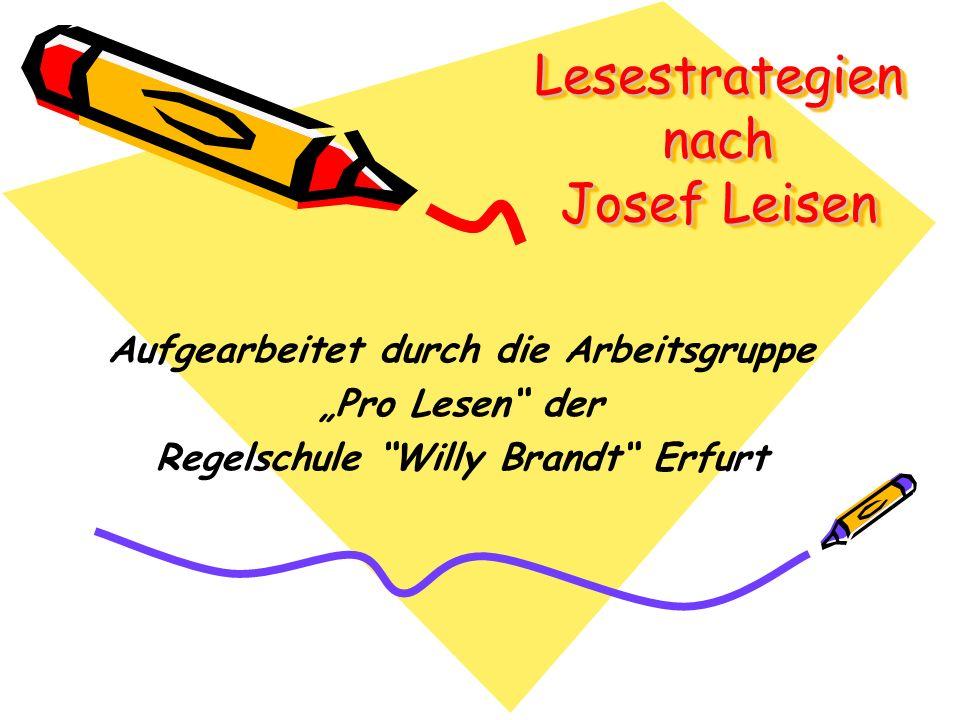 Lesestrategien nach Josef Leisen