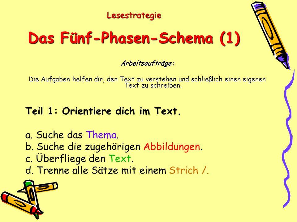 Lesestrategie Das Fünf-Phasen-Schema (1)
