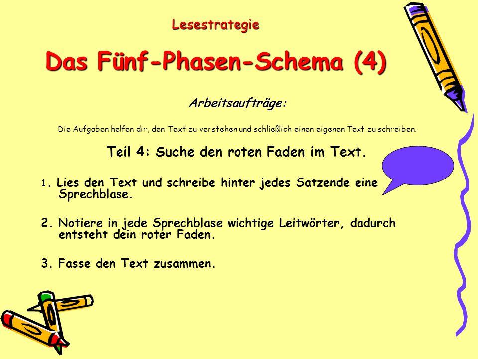 Lesestrategie Das Fünf-Phasen-Schema (4)