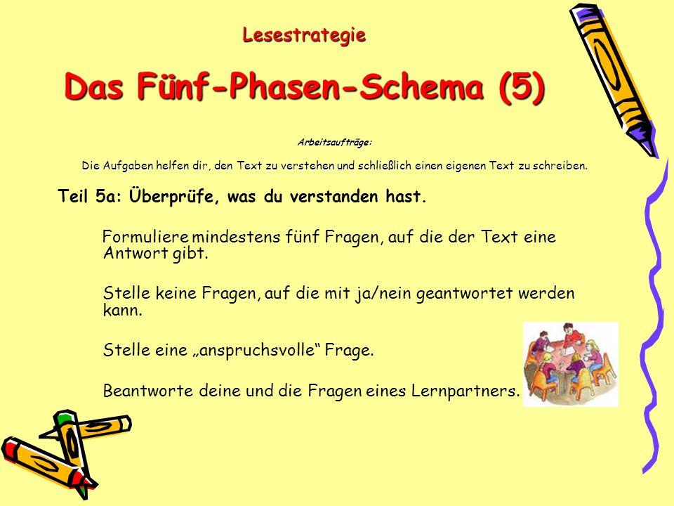 Lesestrategie Das Fünf-Phasen-Schema (5)